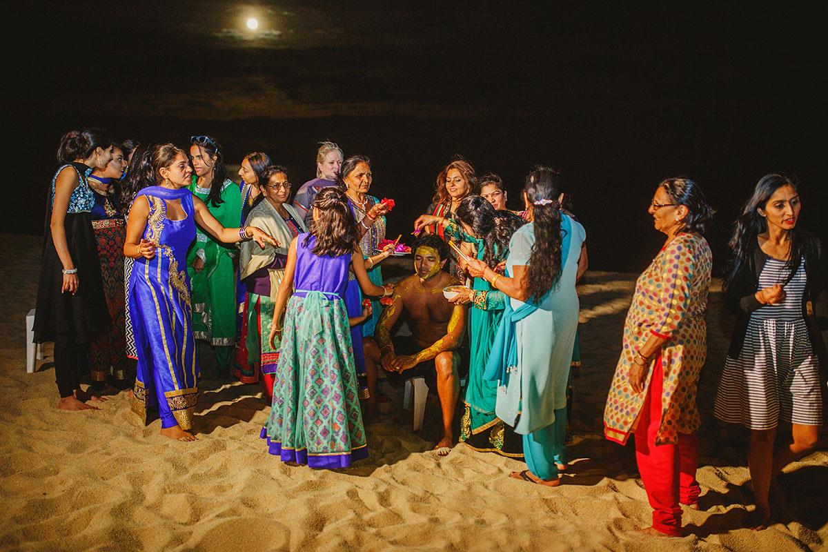 Gujarati Hindu wedding pithi ceremony los cabos mexico
