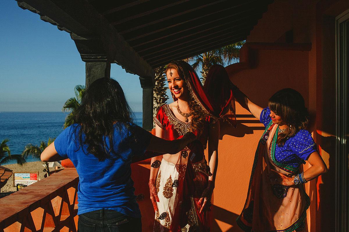 Gujarati Hindu wedding at sheraton hacienda del mar mexico
